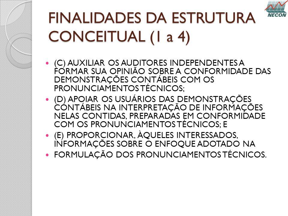 FINALIDADES DA ESTRUTURA CONCEITUAL (1 a 4)