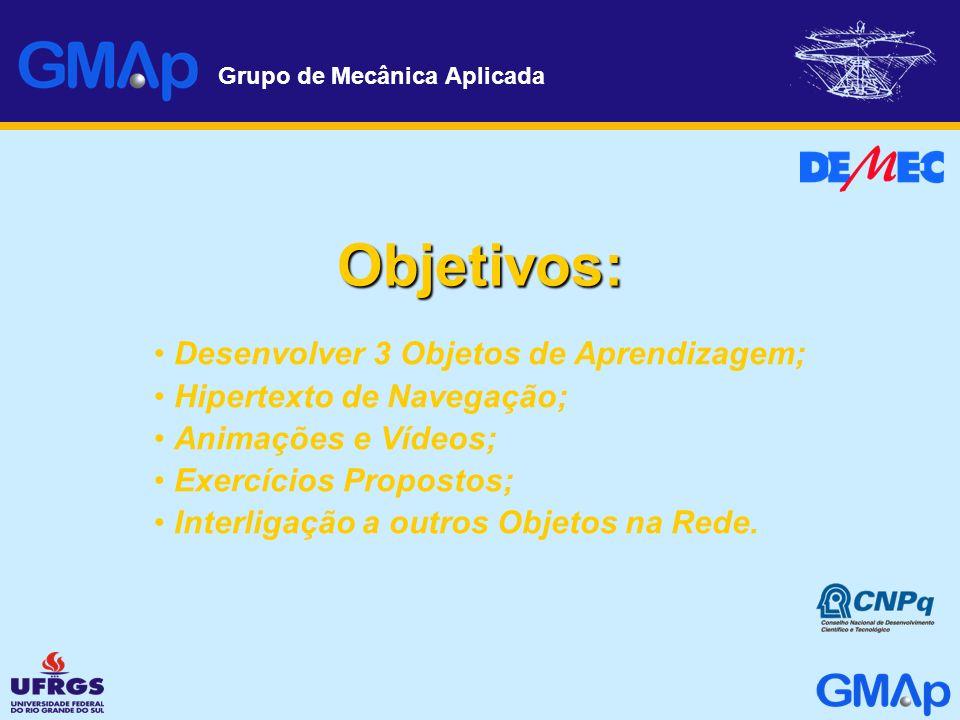 Objetivos: Desenvolver 3 Objetos de Aprendizagem;