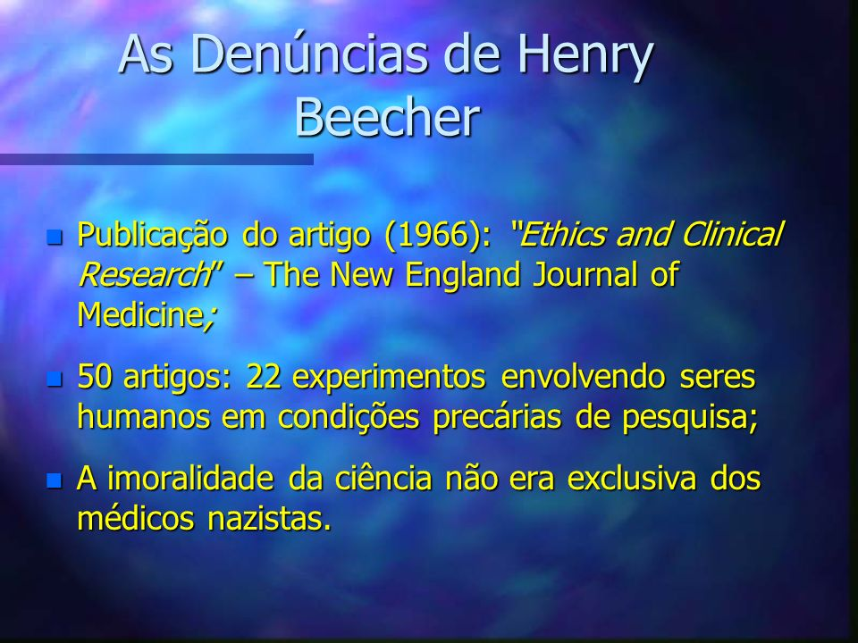 As Denúncias de Henry Beecher