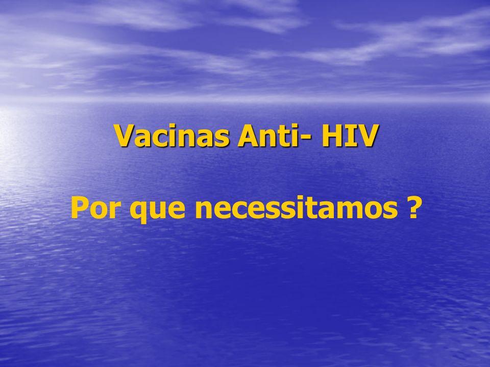 Vacinas Anti- HIV Por que necessitamos
