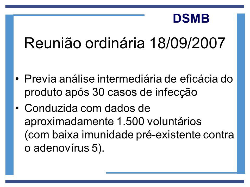 Reunião ordinária 18/09/2007 DSMB