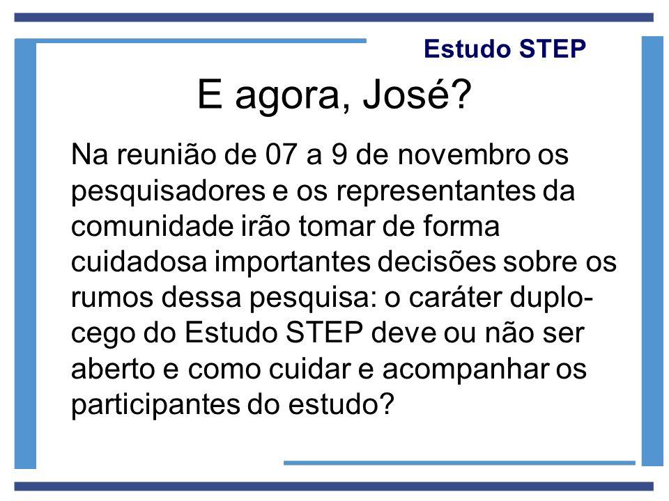 Estudo STEP E agora, José