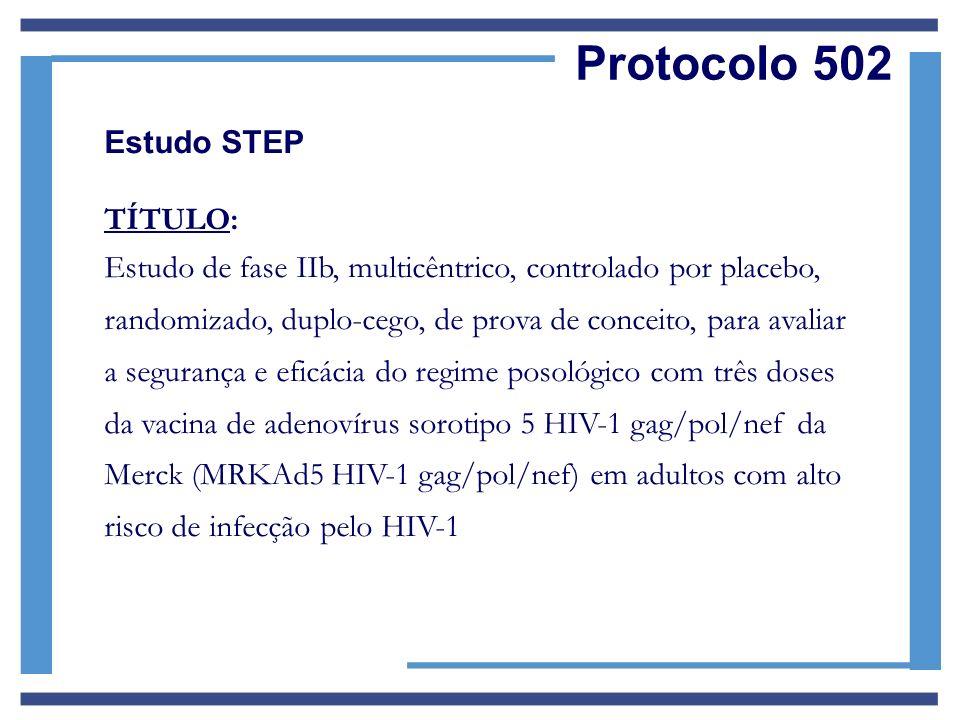 Protocolo 502 Estudo STEP TÍTULO: