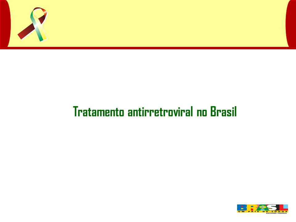 Tratamento antirretroviral no Brasil