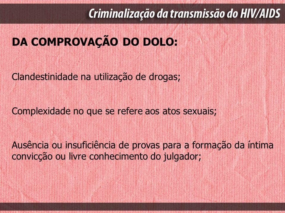 DA COMPROVAÇÃO DO DOLO: