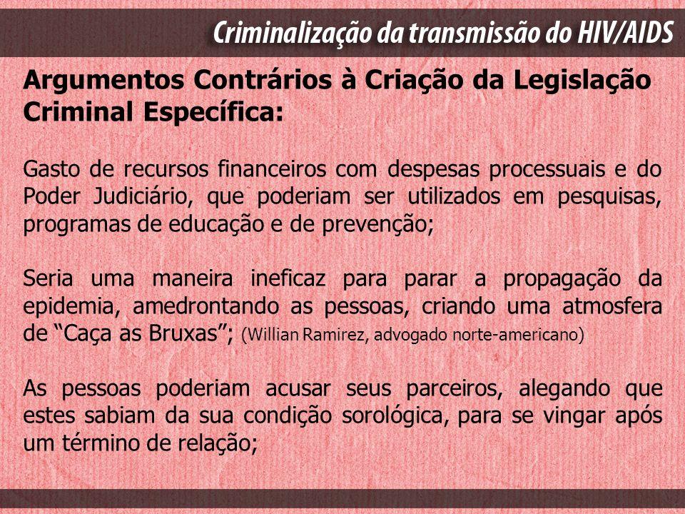 Argumentos Contrários à Criação da Legislação Criminal Específica:
