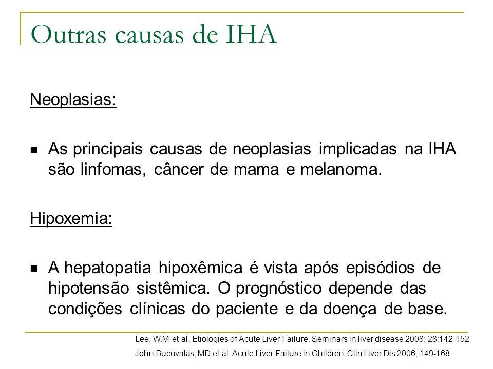 Outras causas de IHA Neoplasias: