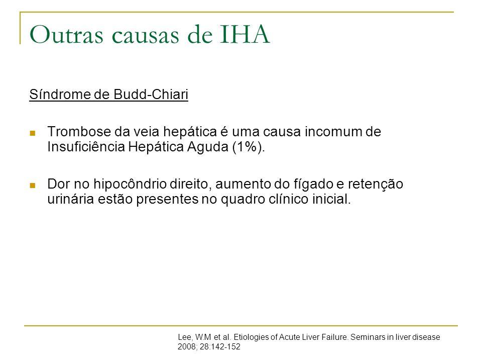 Outras causas de IHA Síndrome de Budd-Chiari