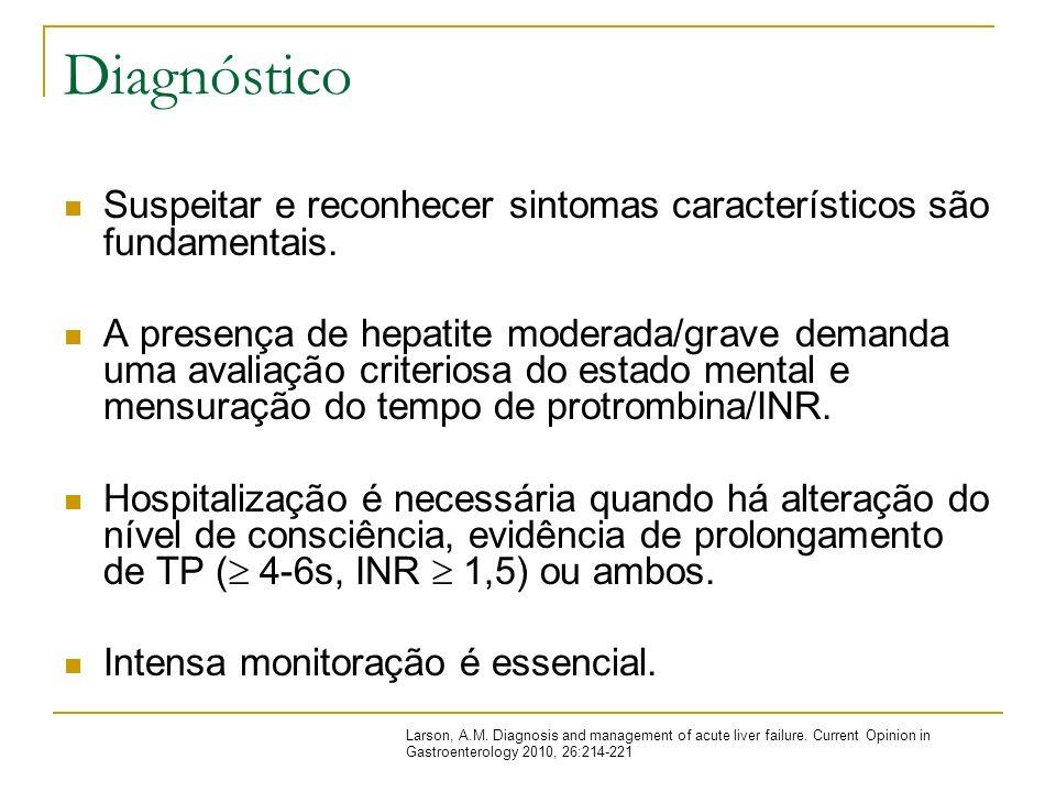 Diagnóstico Suspeitar e reconhecer sintomas característicos são fundamentais.
