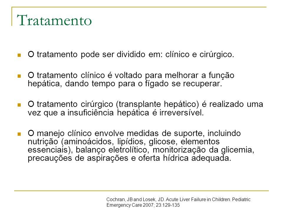 Tratamento O tratamento pode ser dividido em: clínico e cirúrgico.
