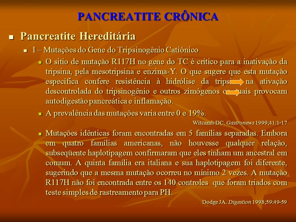 Pancreatite Hereditária