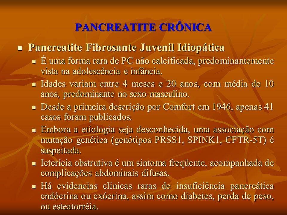 Pancreatite Fibrosante Juvenil Idiopática