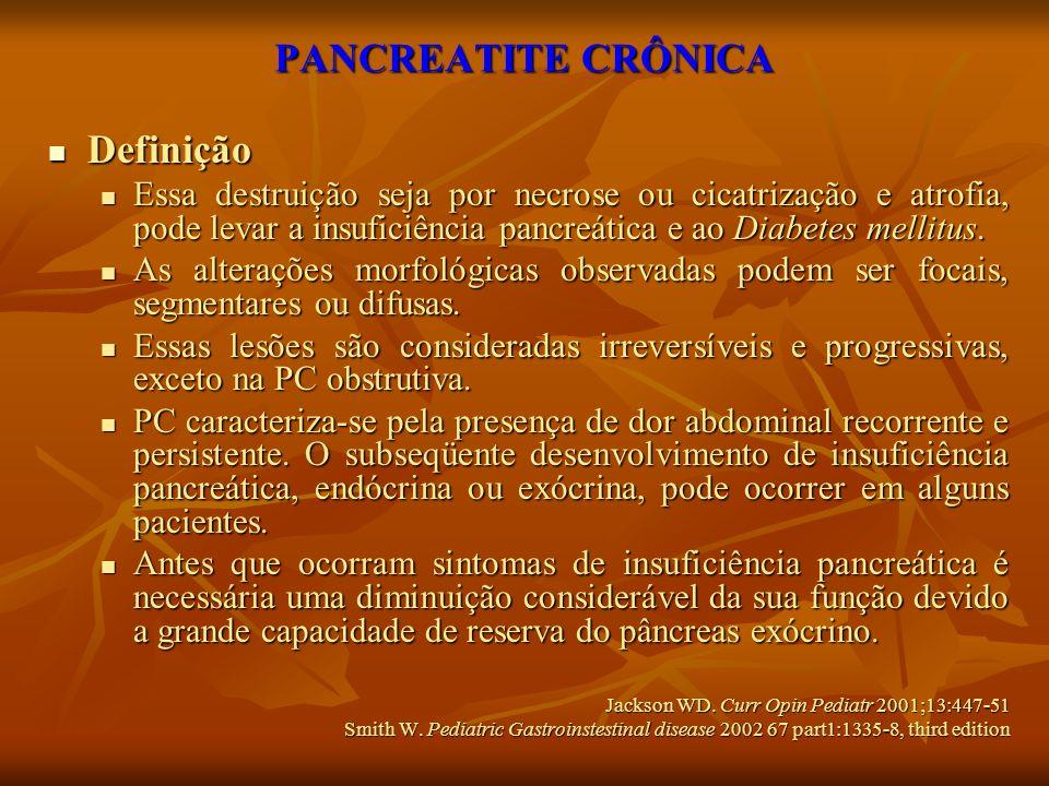 PANCREATITE CRÔNICA Definição