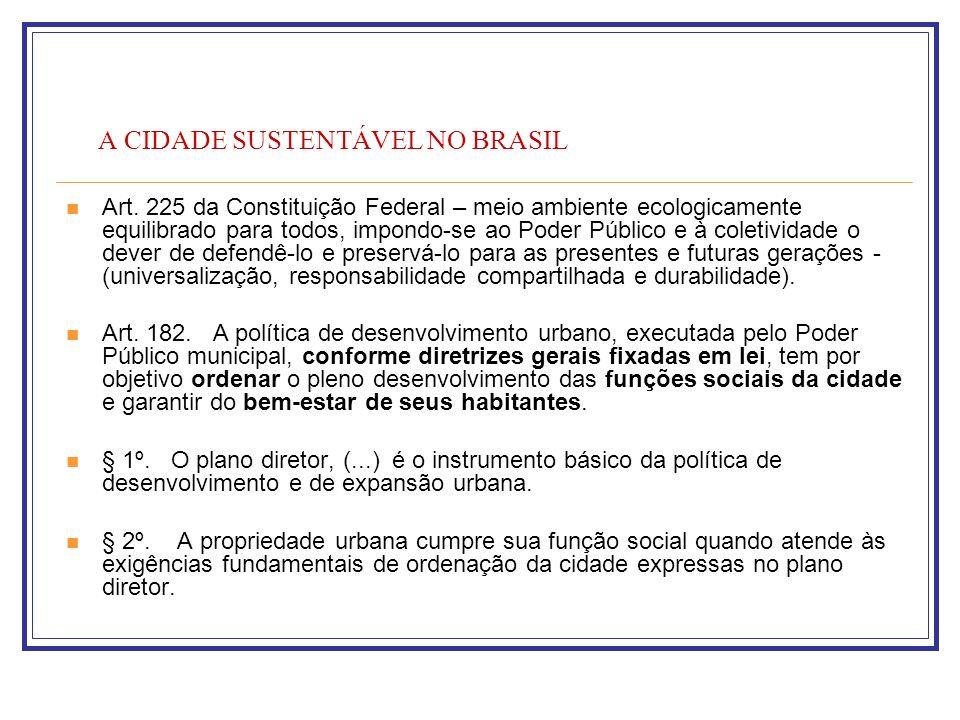 A CIDADE SUSTENTÁVEL NO BRASIL