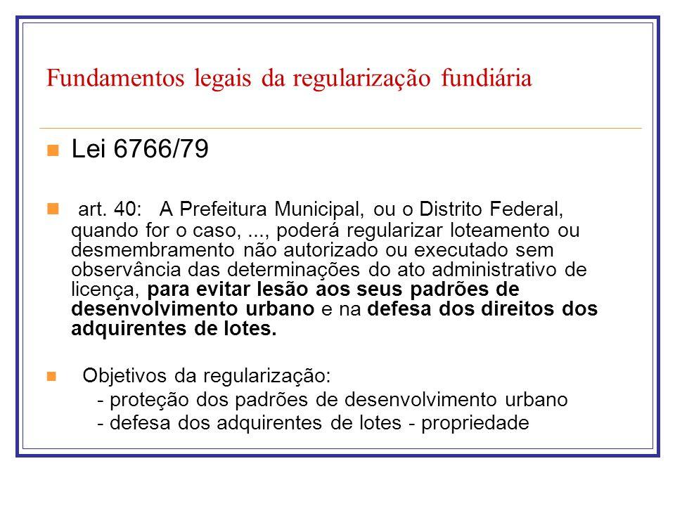 Fundamentos legais da regularização fundiária
