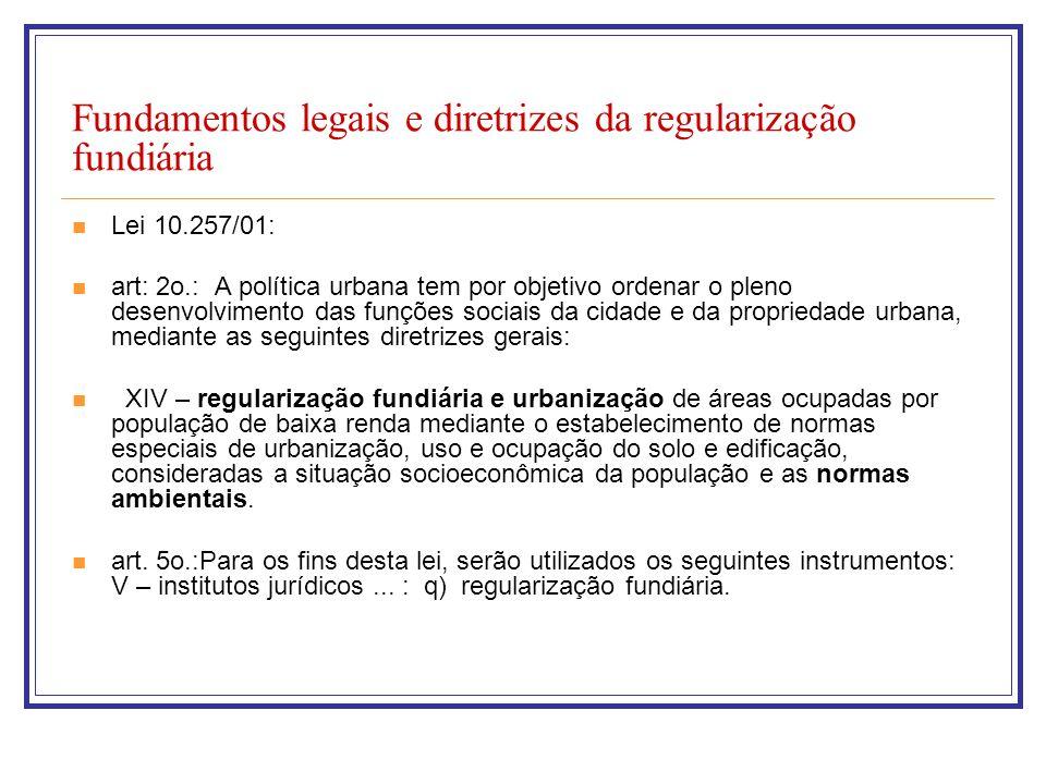 Fundamentos legais e diretrizes da regularização fundiária