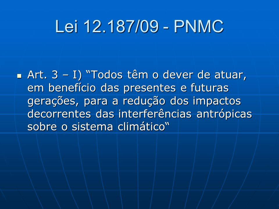 Lei 12.187/09 - PNMC