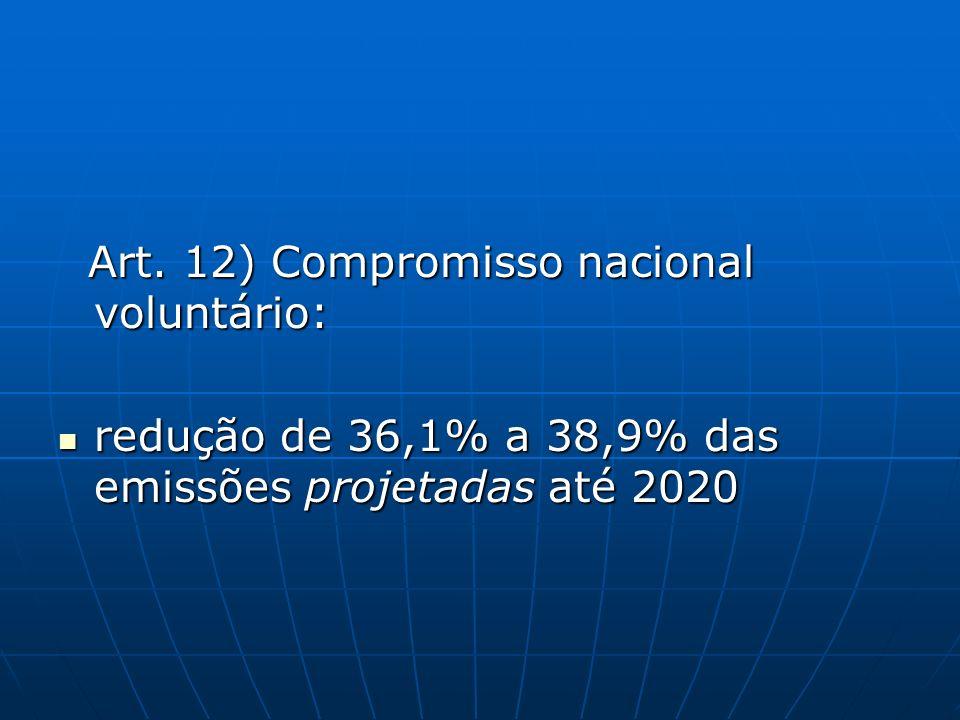 Art. 12) Compromisso nacional voluntário: