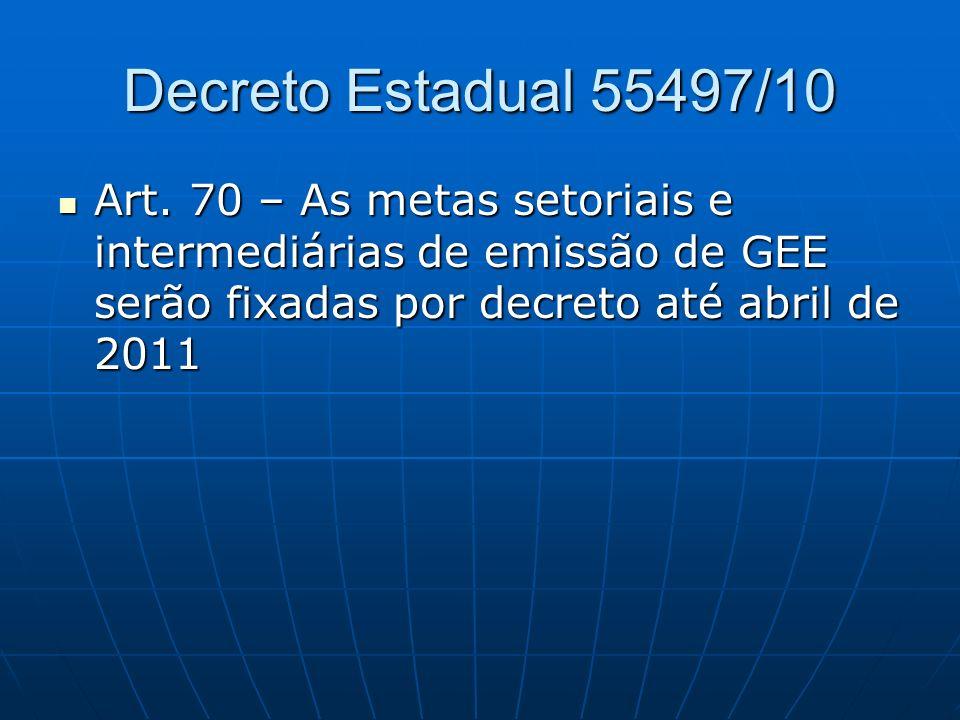 Decreto Estadual 55497/10 Art.