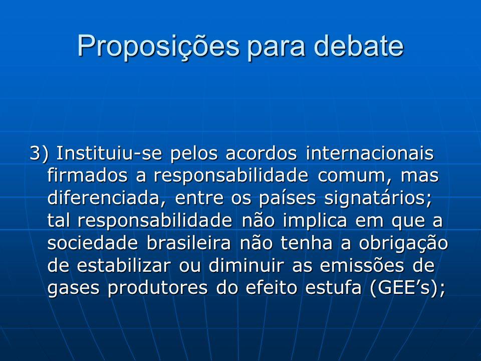 Proposições para debate