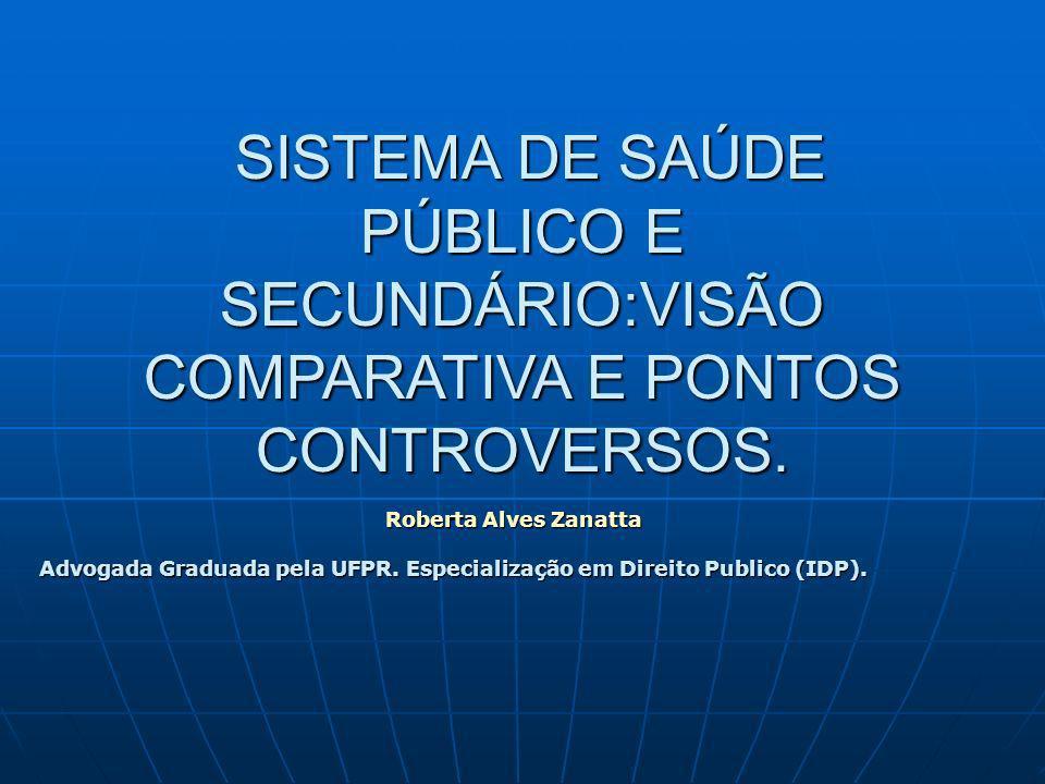SISTEMA DE SAÚDE PÚBLICO E SECUNDÁRIO:VISÃO COMPARATIVA E PONTOS CONTROVERSOS.