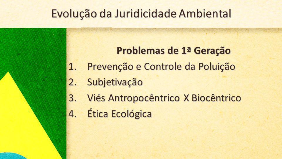 Evolução da Juridicidade Ambiental