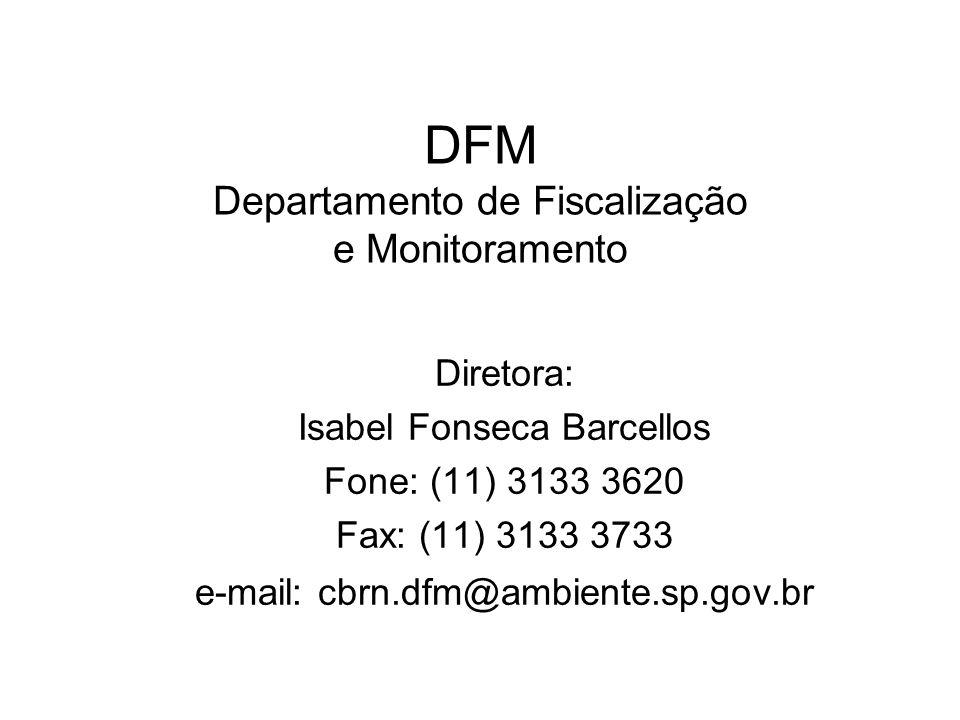 DFM Departamento de Fiscalização e Monitoramento