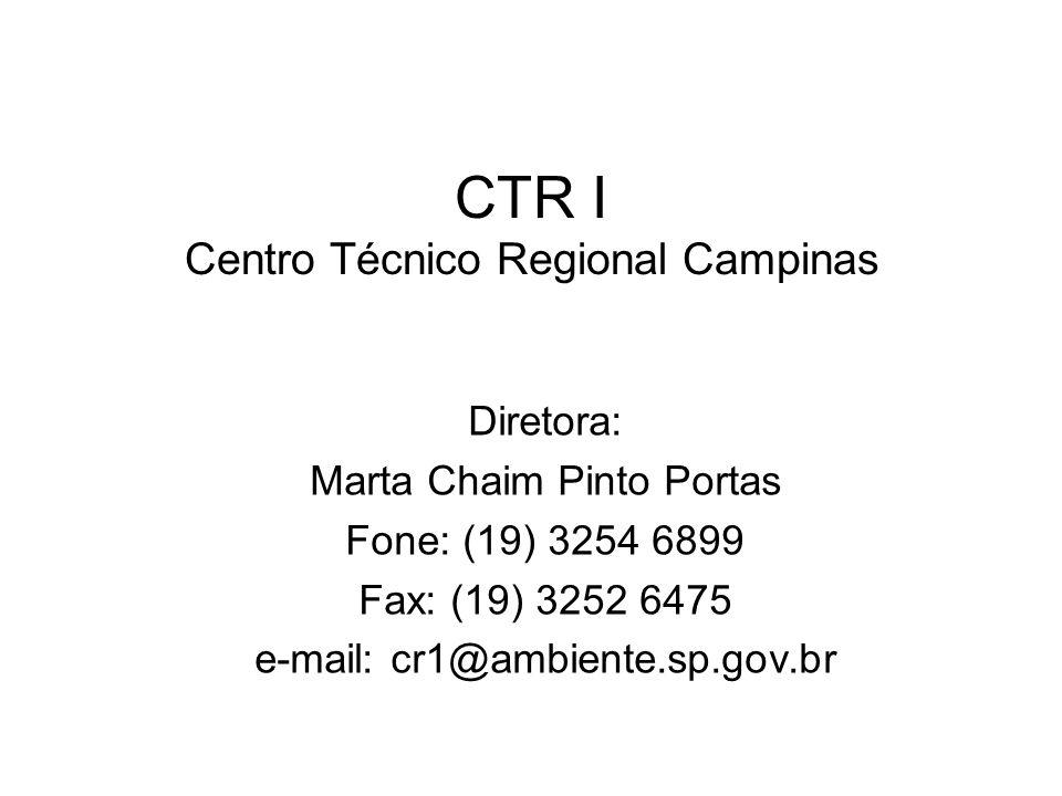 CTR I Centro Técnico Regional Campinas