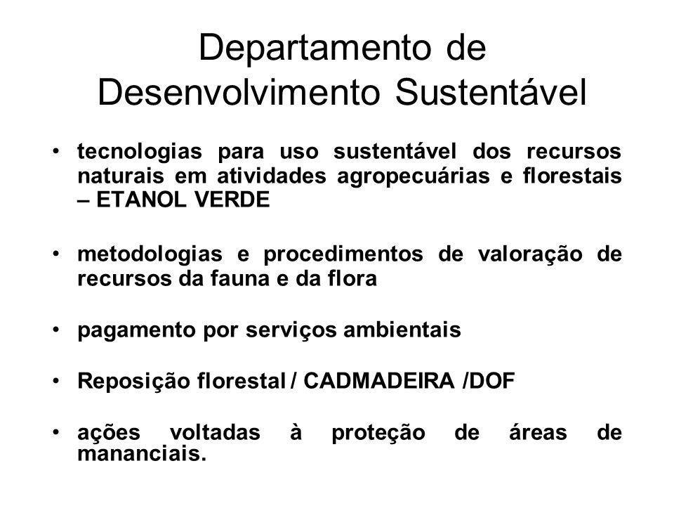 Departamento de Desenvolvimento Sustentável