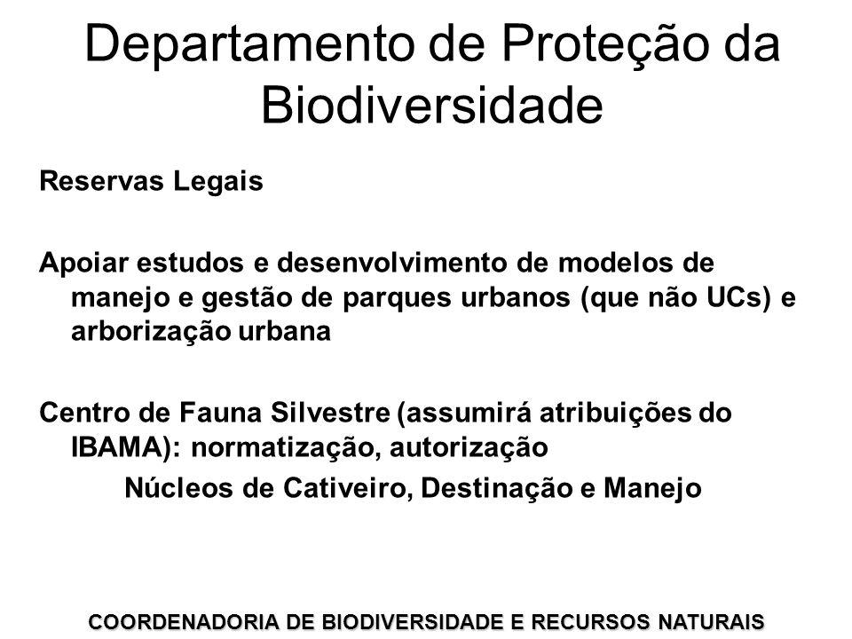 COORDENADORIA DE BIODIVERSIDADE E RECURSOS NATURAIS