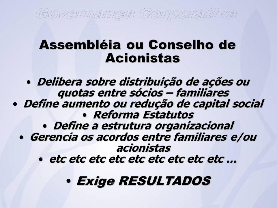 Assembléia ou Conselho de Acionistas