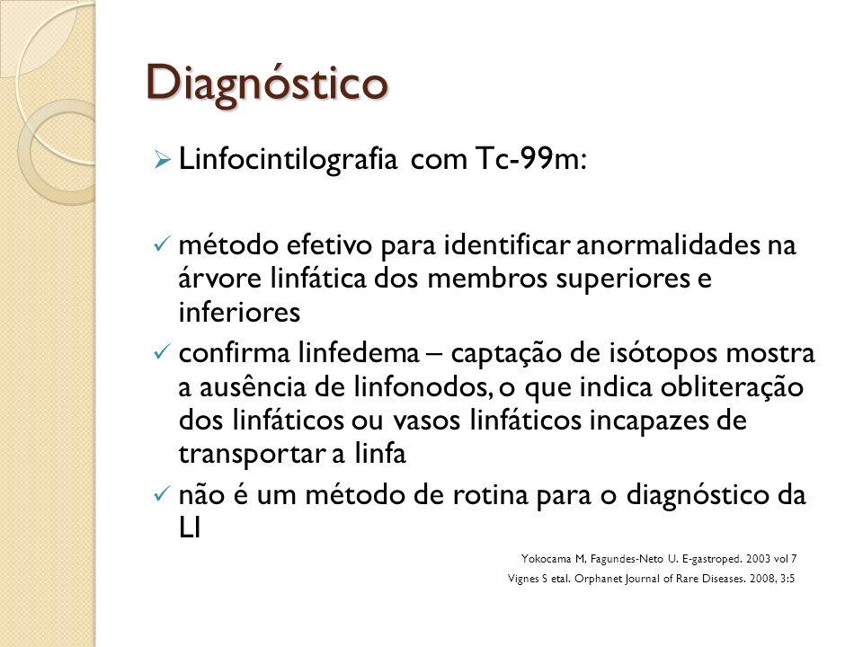 Diagnóstico Linfocintilografia com Tc-99m: