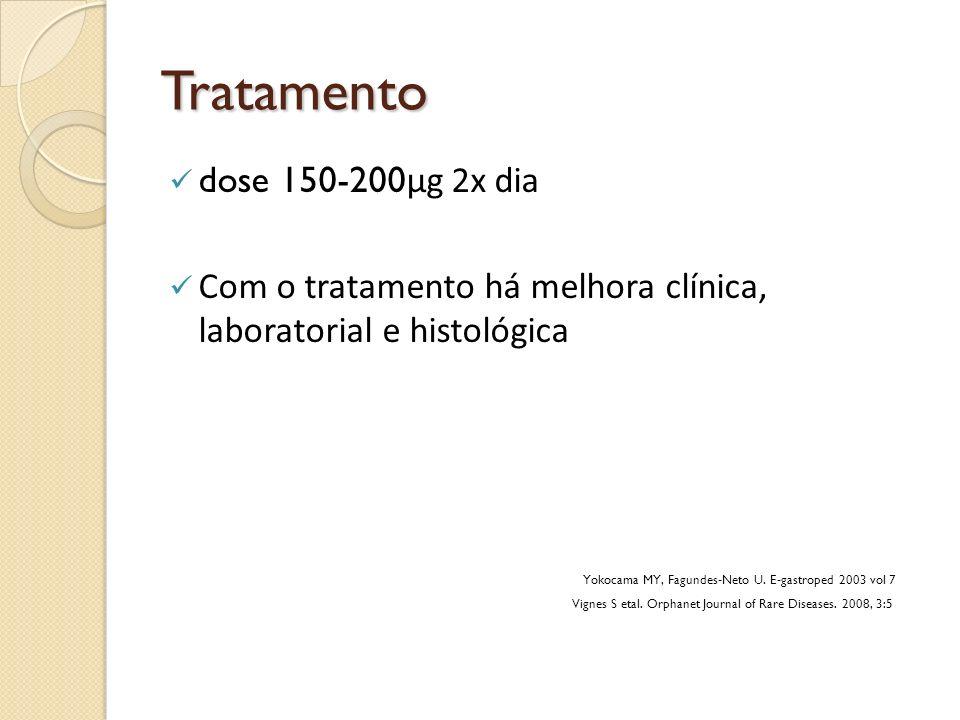 Tratamento dose 150-200µg 2x dia