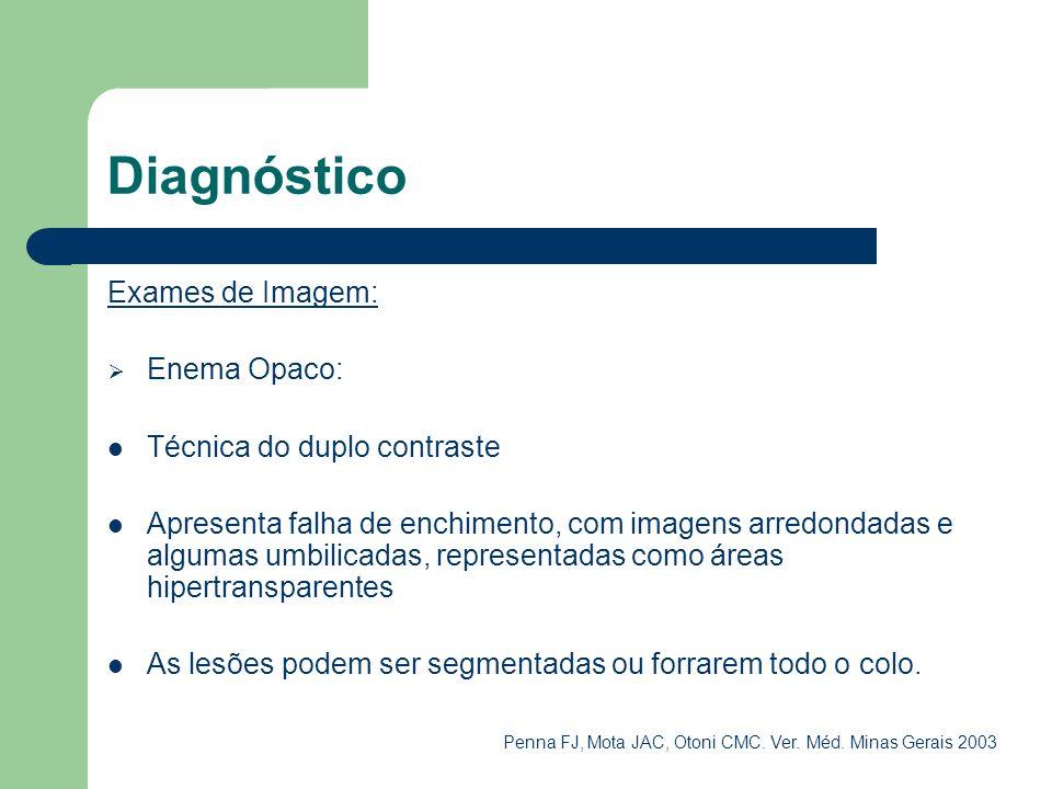 Diagnóstico Exames de Imagem: Enema Opaco: Técnica do duplo contraste