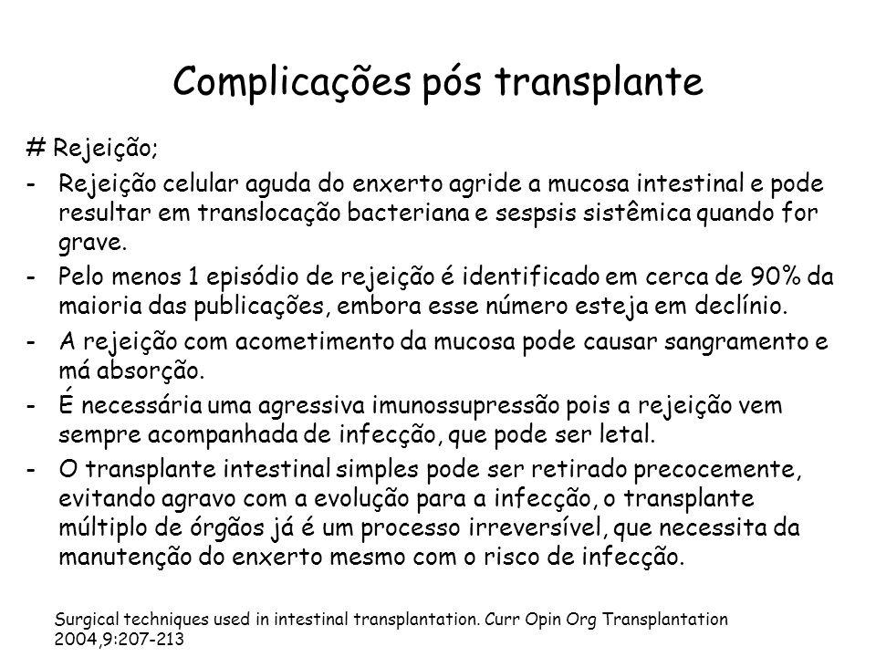 Complicações pós transplante