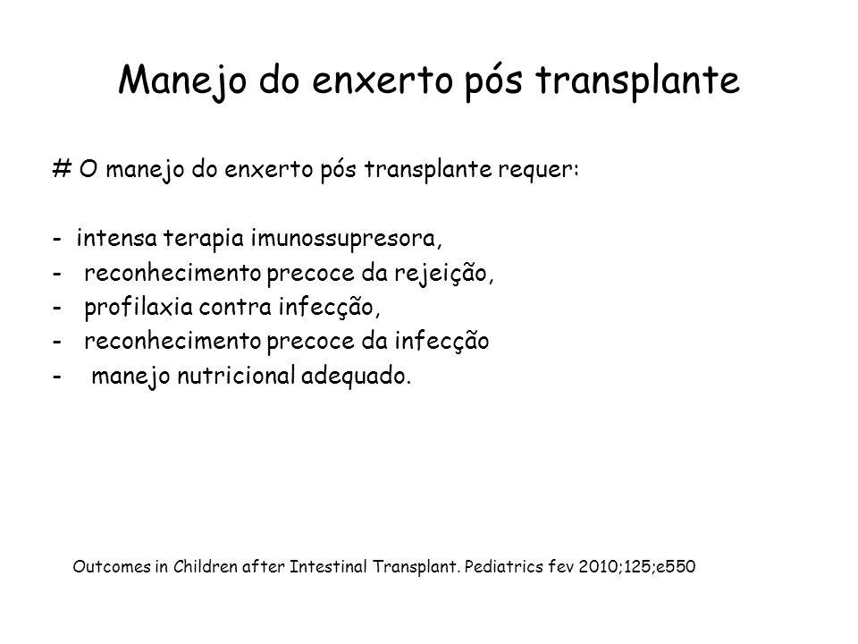 Manejo do enxerto pós transplante