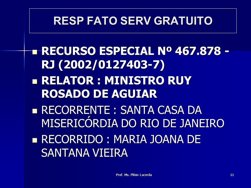 RESP FATO SERV GRATUITO