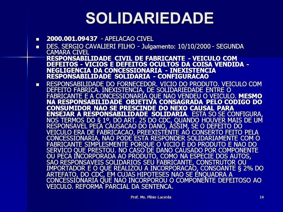 SOLIDARIEDADE 2000.001.09437 - APELACAO CIVEL