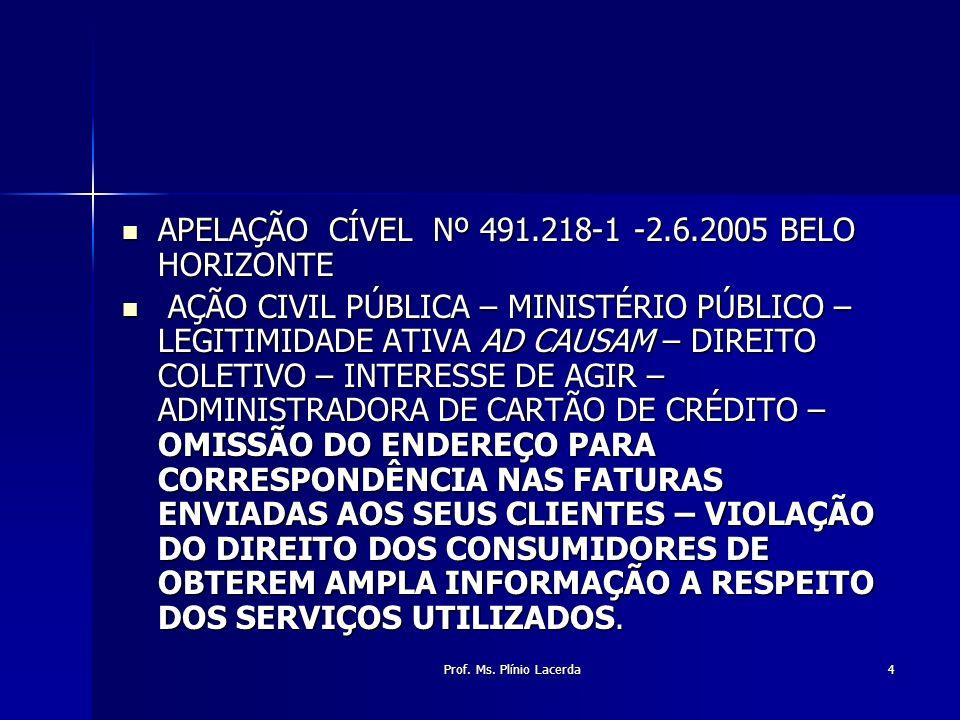 APELAÇÃO CÍVEL Nº 491.218-1 -2.6.2005 BELO HORIZONTE