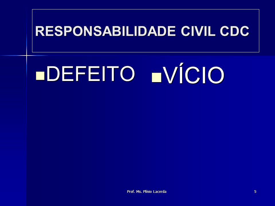 RESPONSABILIDADE CIVIL CDC
