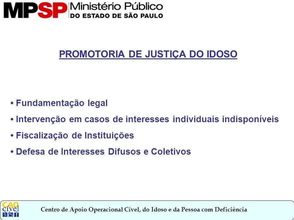 PROMOTORIA DE JUSTIÇA DO IDOSO