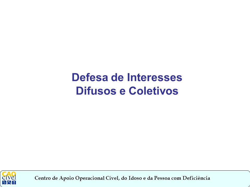 Defesa de Interesses Difusos e Coletivos