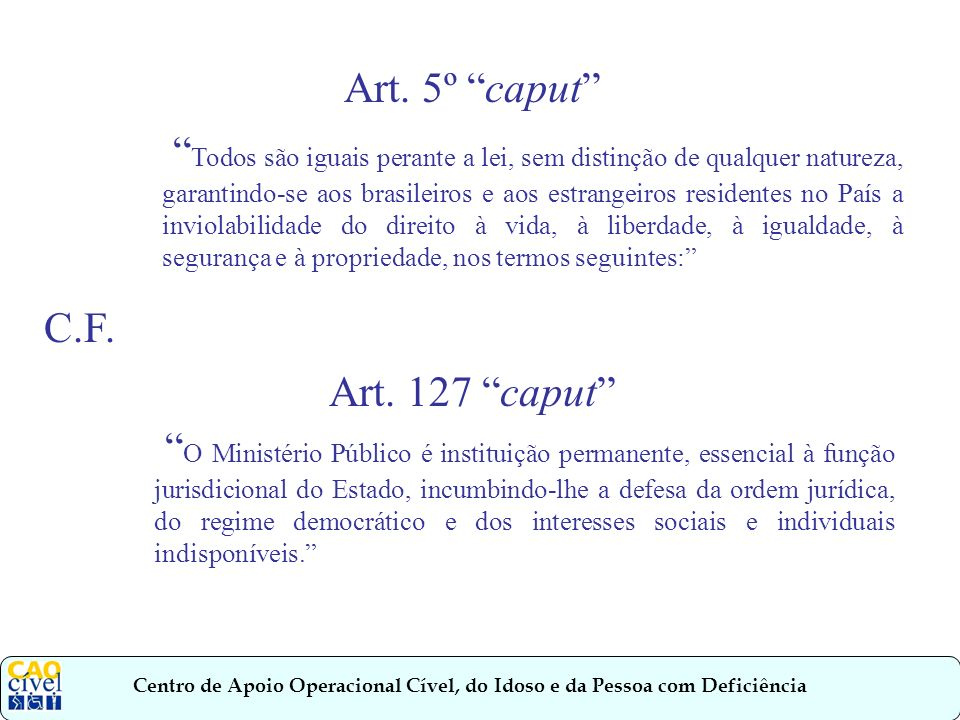 Art. 5º caput
