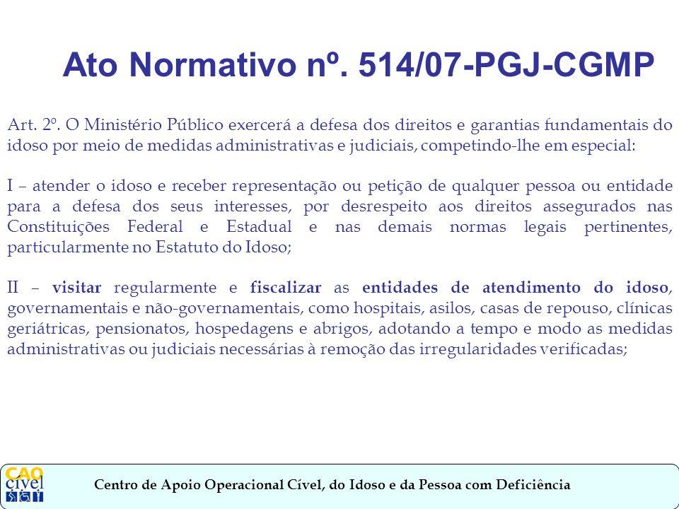Ato Normativo nº. 514/07-PGJ-CGMP