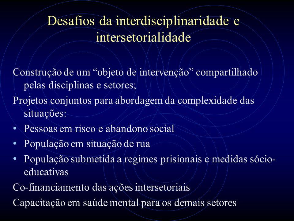 Desafios da interdisciplinaridade e intersetorialidade
