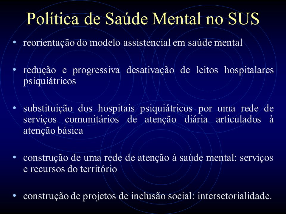 Política de Saúde Mental no SUS