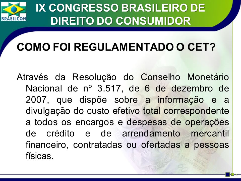 IX CONGRESSO BRASILEIRO DE