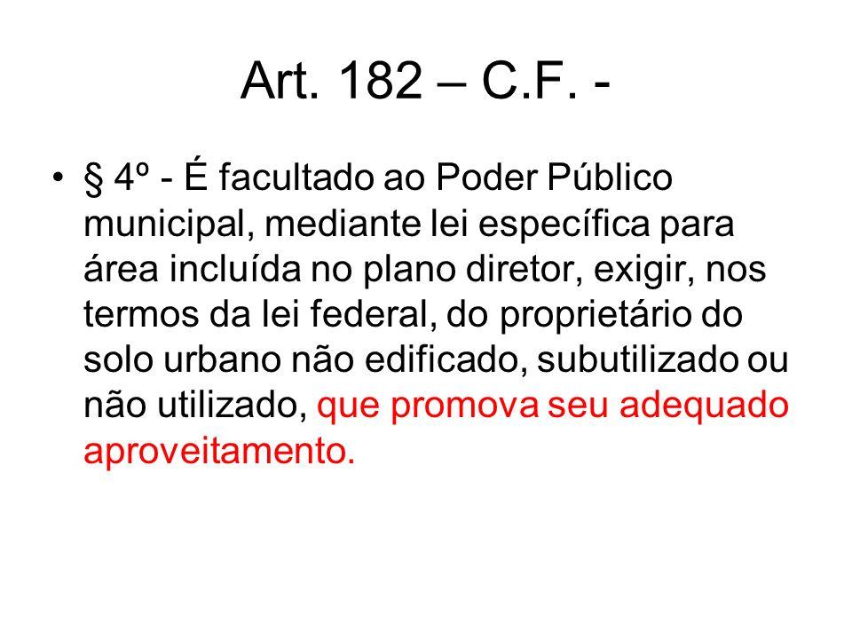 Art. 182 – C.F. -