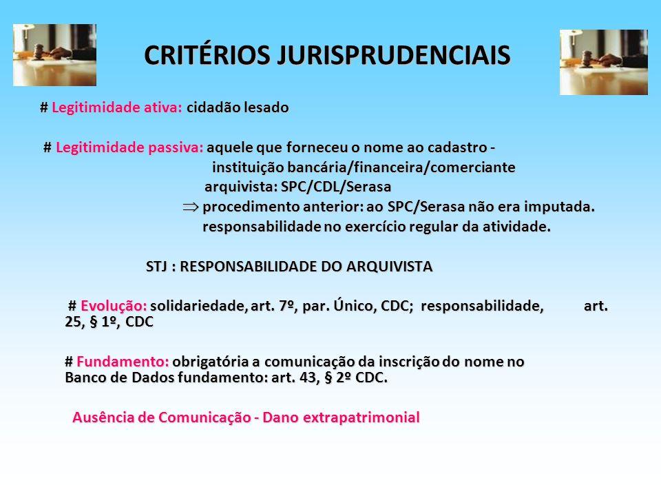 CRITÉRIOS JURISPRUDENCIAIS