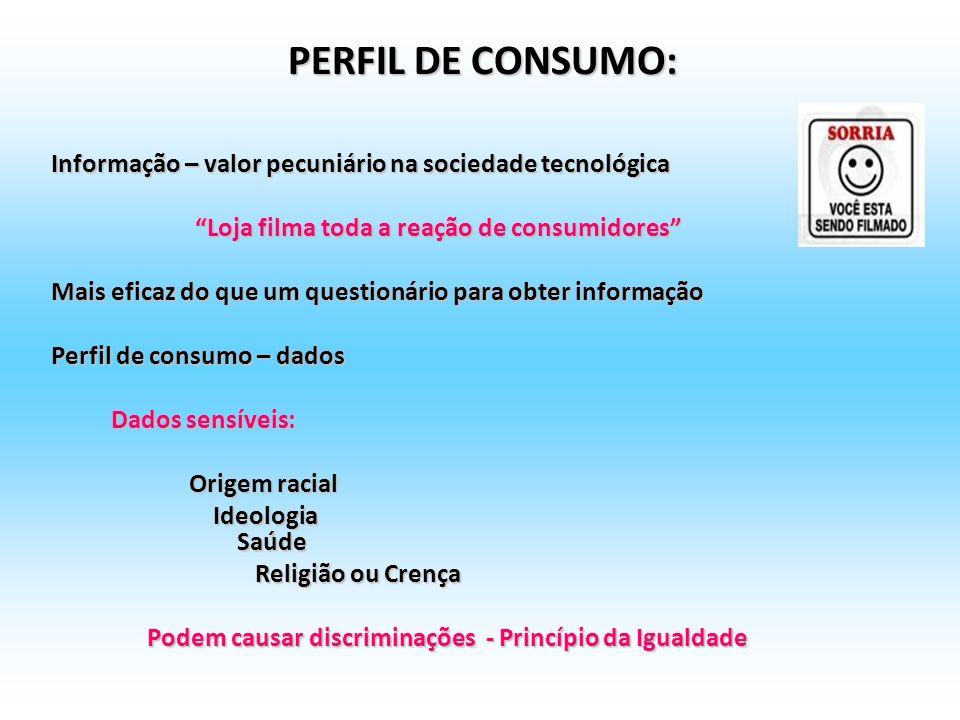 PERFIL DE CONSUMO: Informação – valor pecuniário na sociedade tecnológica. Loja filma toda a reação de consumidores